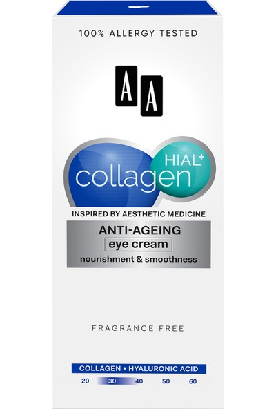 Aa Collagen Hıal+ Göz Çevresi Kırışıklık Karşıtı Onarıcı Krem