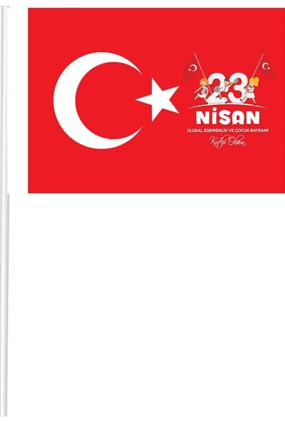 Magnet Market Kağıt Türk Bayrağı ve 23 Nisan Bayrak 50'li