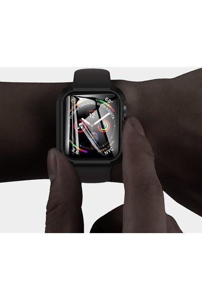 Zaks Apple Watch Series 4/5 44MM 360 Derece Koruma + Ekran Koruyucu