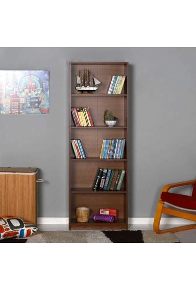 Adore Modern 5 Raflı Kitaplık - Ceviz