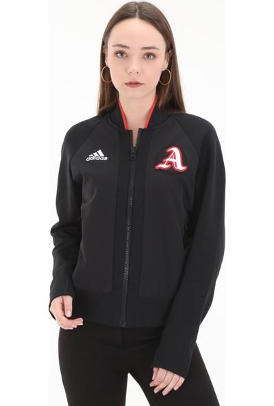 adidas W Vrct Jk Kadın Spor Sweatshirt Siyah
