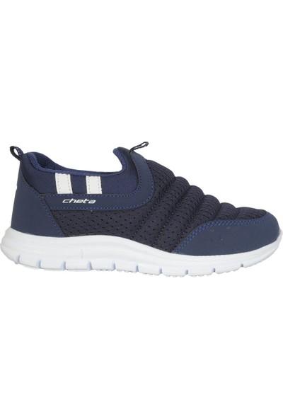 Cheta C21240 Lacivert Bağsız Yazlık Erkek Çocuk Spor Ayakkabı 33
