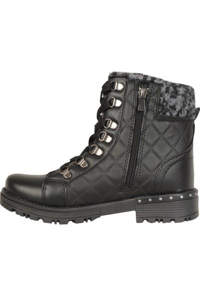 Ayakcenter Kpt Siyah Termal Kışlık Kadın - Kız Bot Ayakkabı 36