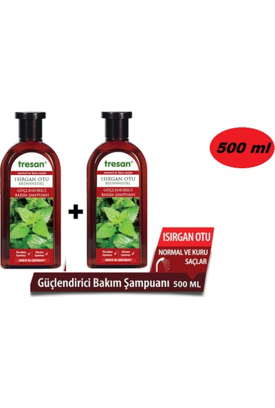 Tresan Isırgan Otu Şampuan Normal - Kuru Saçlar 500 ml 2 Adet