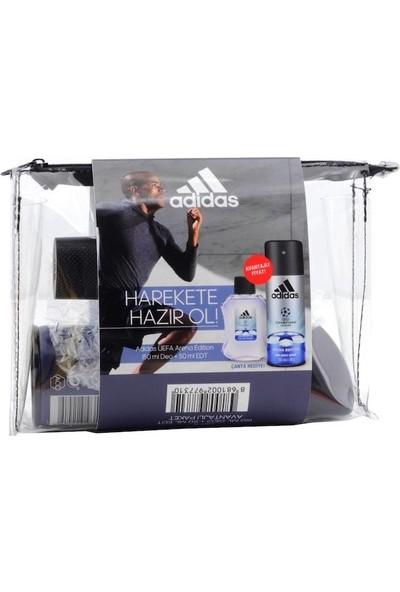 Adidas Uefa Arena Edition 50ML EDT+150ML Deodorant Erkek Parfüm Set