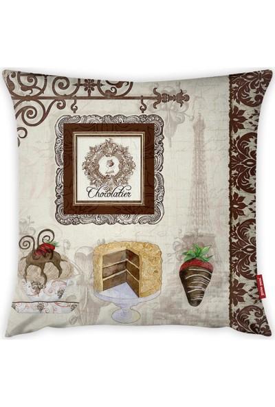Yeni Nesil Tekstil Dekoratif Kırlent Kılıfı A61439-K