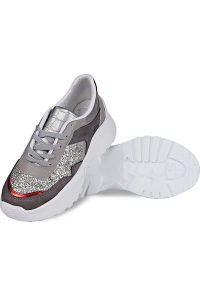 Crash Kadın Sneaker 14606 Gümüş 36