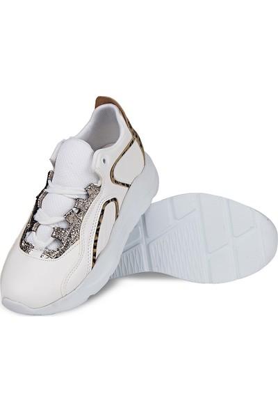 Crash Kadın Sneaker 14609 Beyaz 36