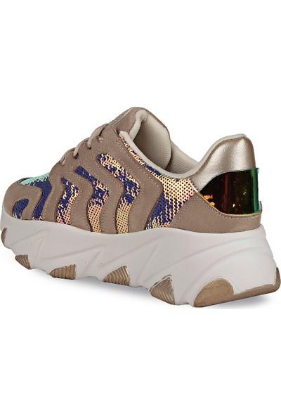 Crash Kadın Sneaker 14-612 Bej 36