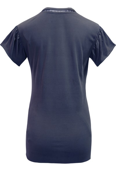 Perla Blanca Lacivert Düğümlü Hamile Bluz