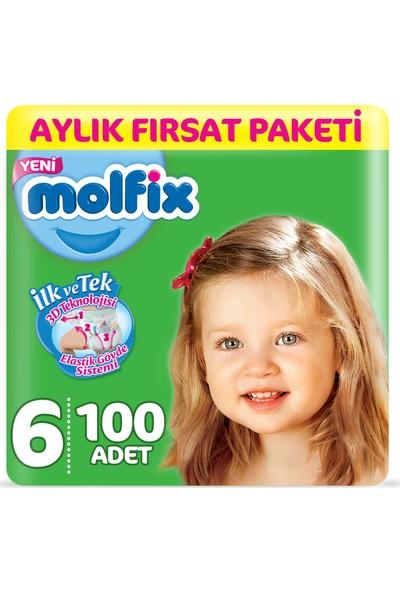 Molfix Bebek Bezi 6 Beden Ekstra Large Aylık Fırsat Paketi 100 Adet