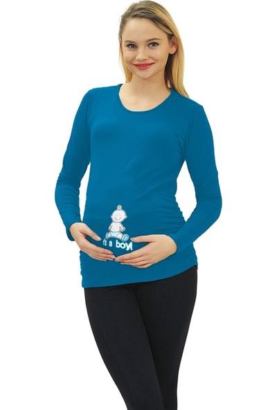 Elija Lingerie Elija Hamile Its A Boy Espirili T-Shirt