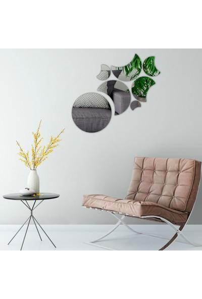 Dez Spiral Model Dekoratif Duvar Aynası Parçalı