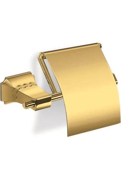Mesa Teknik Karlim Phaselis Serisi Kapaklı Tuvalet Kağıtlık Gold