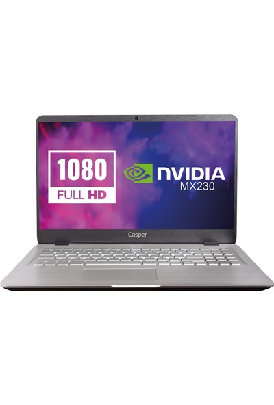 "Casper Nirvana S500.1021-8150X-G-F Intel Core i5 10210U 8GB 1TB + 120GB SSD MX230 Freedos 15.6"" FHD Taşınabilir Bilgisayar"