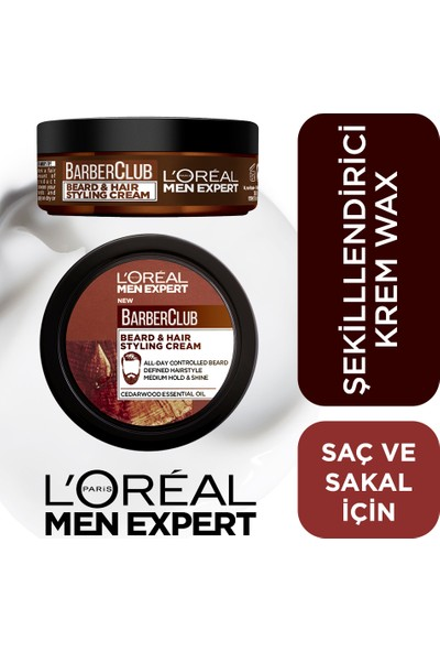 L'Oréal Paris Men Expert Barber Club Saç Ve Sakal Şekillendirici Krem Wax 75 Ml