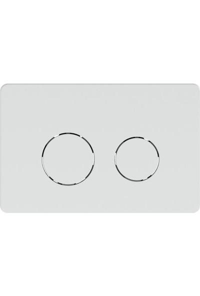 ECA Serel Gömme Rezervuar Kumanda Paneli Twin Beyaz