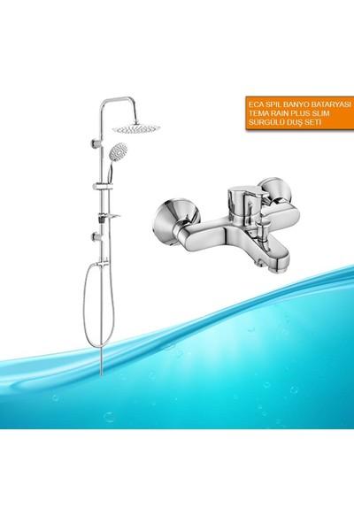 ECA Spil Banyo Bataryası Rain Plus Duş Seti