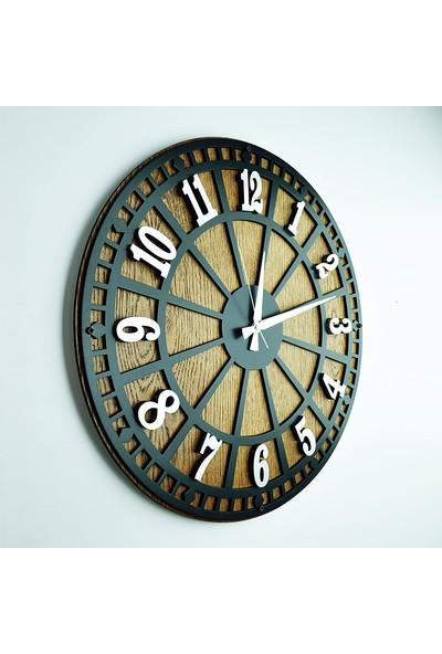Kayra Tasarım Atölyesi Kayra Saat Rustik Latin (50CM)