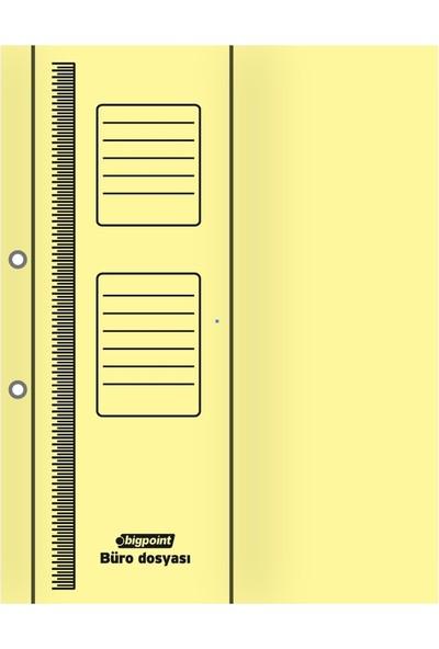 Bigpoint Büro Dosyası Yarım Kapak Sarı 25'li Paket