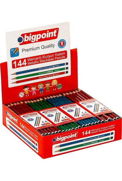 Bigpoint Mercanlı Kurşun Kalem 12'li Kutu