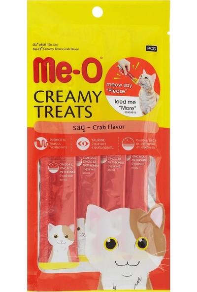 Me-O Creamy Treats Yengeçli Sıvı Kedi Ödülü 4 x 15 gr