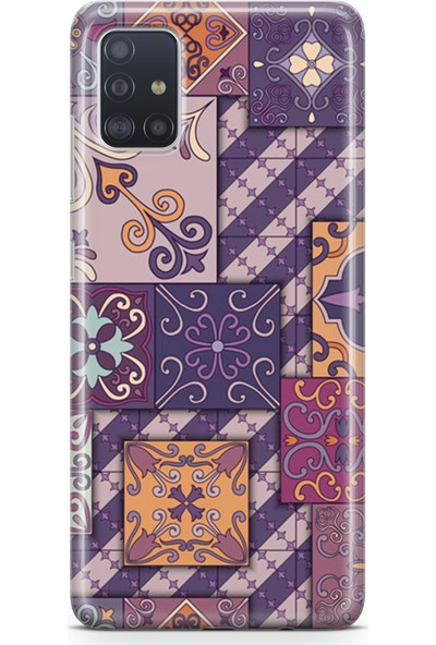 Melefoni Samsung Galaxy A51 Kılıf Patchwork Serisi Brooke