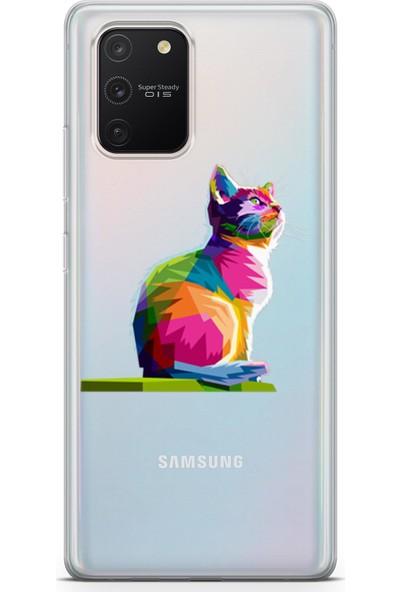 Melefoni Samsung Galaxy S10 Lite Kılıf Şeffaf Wild Life Serisi Tatina