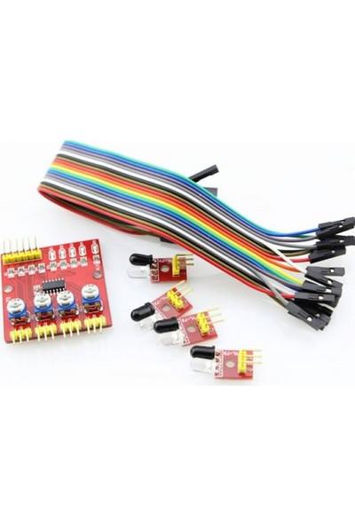 Arduino 4'lü Çizgi Izleyen Sensör Seti 4 Way Tracking Module
