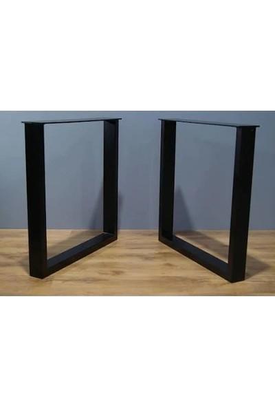İlgi Trafik Masa Ayağı Metal Ayak Mobilya Ofis Bahçe Iş Yeri Kütük Masa Ayağı 50 x 70 cm