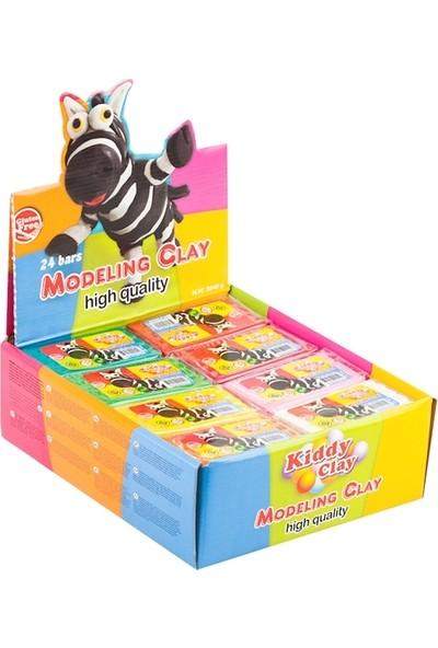 Kiddy Clay Kurumayan Model Hamuru (Plastilina) 160 Gram 24'lü Standı