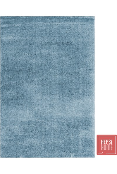 Hepsi Home Micropolyester Shaggy Halı Antrasit - Mavi