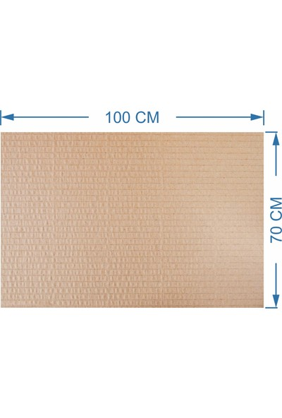 Kraft Oluklu Mukavva Karton Plaka 5 mm 10'lu