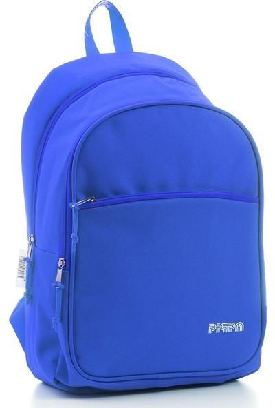 Pippa Neon Çok Amaçlı Okul Sırt Çantası Mavi