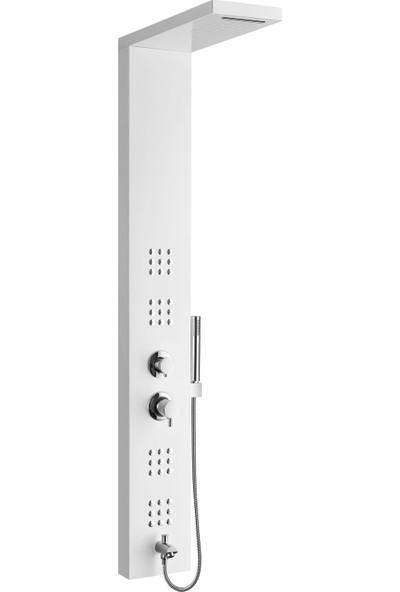 VitrA Shake 60010001000 Masajlı Duş Sistemi 153 x 22 cm Beyaz