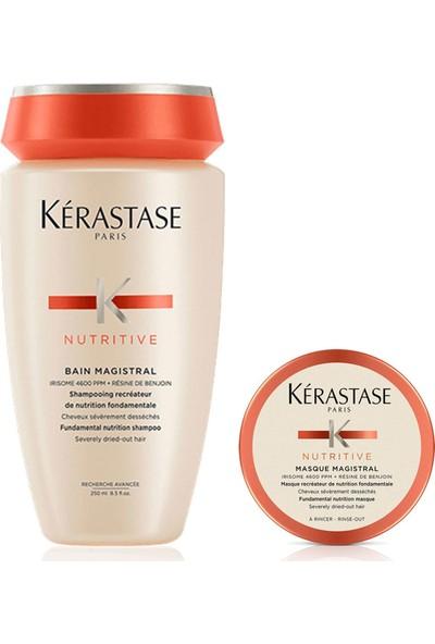 Kerastase Nemlendirici Şampuan - Nutritive Bain Magistral 250 ml + Magistral Saç Maskesi 80 ml