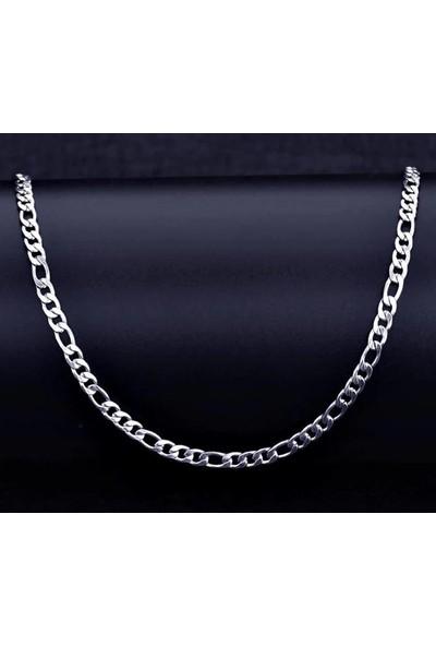 Takı Dükkanı Figaro Çelik Zincir Erkek Kolye 60CM 6mm ACK06