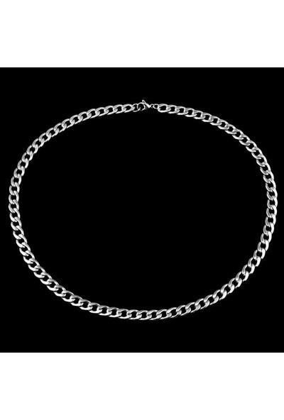 Takı Dükkanı Gemici Çelik Erkek Zincir Kolye 7 mm 60 cm H081