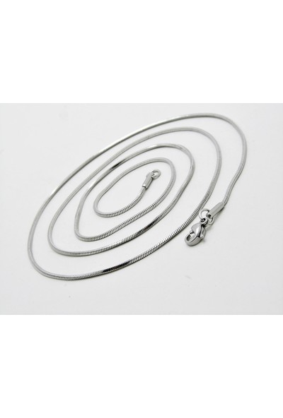 Takı Dükkanı Küp Model Ince Snake Yılan Kolye Erkek Çelik Zincir ECK03K