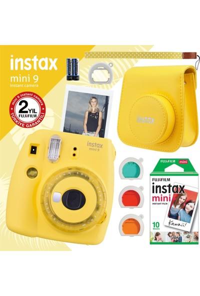 Fujifilm Instax Mini 9 Sarı Fotoğraf Makinesi + Seti 3
