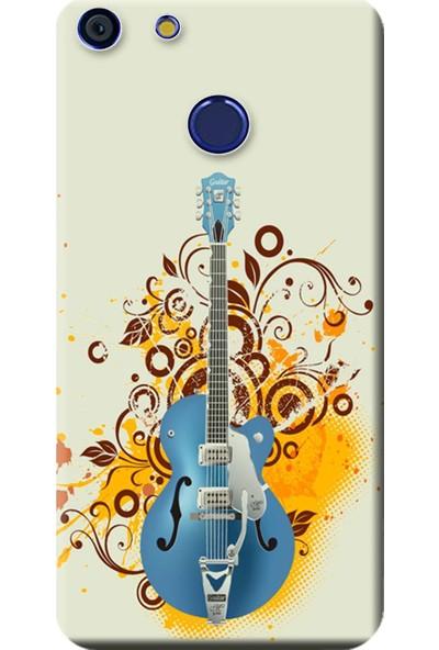 Kılıf Merkezi Vestel Venüs E4 Kılıf Baskılı Silikon Mavi Gitar STK:129