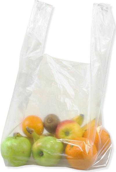 Hoşgör Plastik Hışır Atlet Market Manav Poşeti Kiloluk Küçük Boy 2 Paket:2 kg