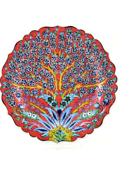Ceramania Samur Desenli 30 cm Tabak 088D