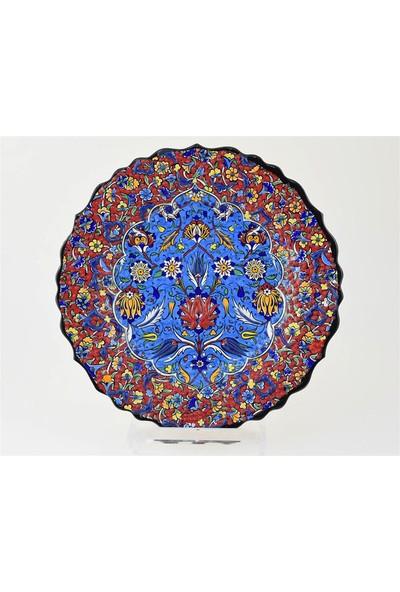Ceramania Samur Desenli 25 cm Tabak 090D