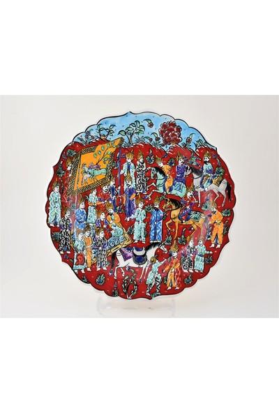 Ceramania Minyatür Desenli 30 cm Tabak 091F
