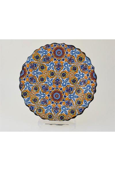 Ceramania Samur Desenli 25 cm Tabak 090C
