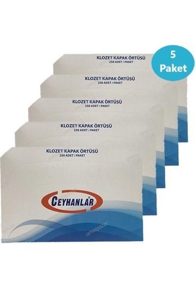 Ceyhanlar Klozet Kapak Örtüsü 5 Paket 1250 Adet