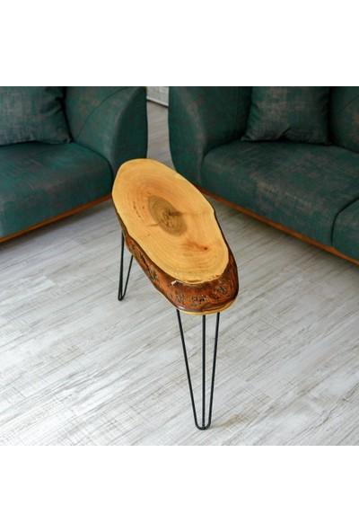 Lovera Doğal Ceviz Orta Sehpa 110 cm