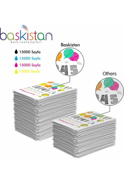 Baskistan Epson 7610 İçin Mürekkep Seti 4 x 500 ml 15000 Sayfa