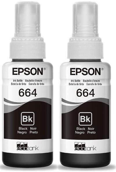 Baskistan Epson 664 Siyah Mürekkep 2 Adet